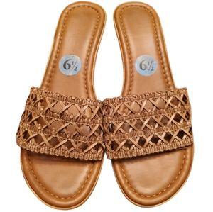 Vintage 90s Mila Pauli Woven Sandals